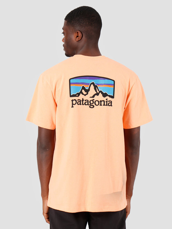 Patagonia Fitz Roy Horizons Responsibili T-Shirt Peach Sherbet 38440