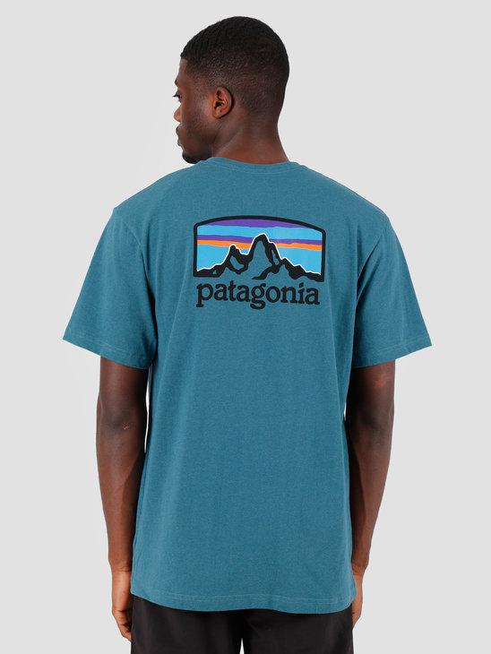 Patagonia Fitz Roy Horizons Responsibili T-Shirt Tasmanian Teal 38440