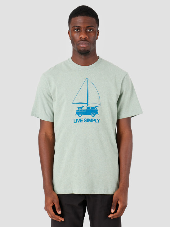 Patagonia Live Simply Wind Powered Responsibili T-Shirt Celadon 38443