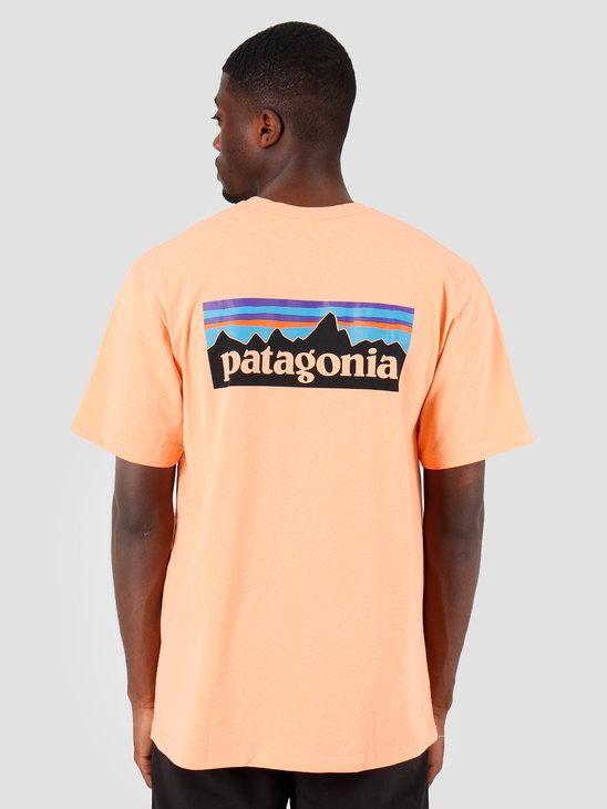Patagonia P 6 Logo Responsibili T-Shirt Peach Sherbet 39174