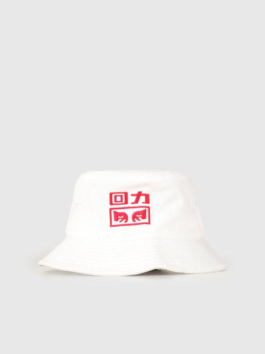 Obey x Warrior Bucket Hat White 100520031E-WHT