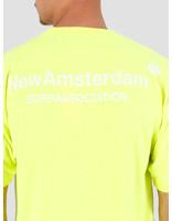 New Amsterdam Surf association New Amsterdam Surf association Logo T-Shirt Safety Green 2018012