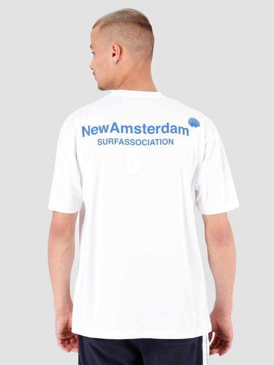 New Amsterdam Surf association Logo T-Shirt White 2018011