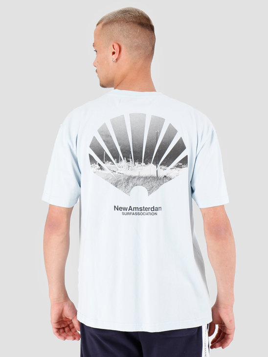New Amsterdam Surf association Wijk T-Shirt Light Blue 2018002