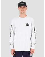 New Amsterdam Surf association New Amsterdam Surf association Logo Longsleeve Ash Heather Grey 2018014