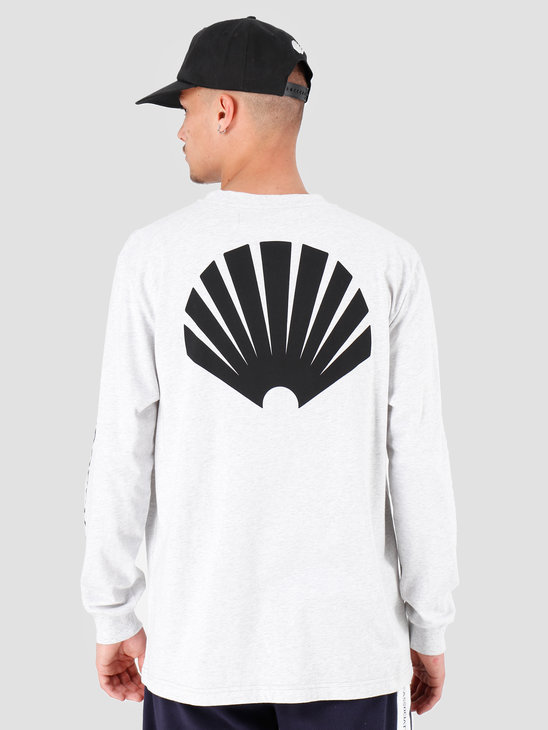 New Amsterdam Surf association Logo Longsleeve Ash Heather Grey 2018014