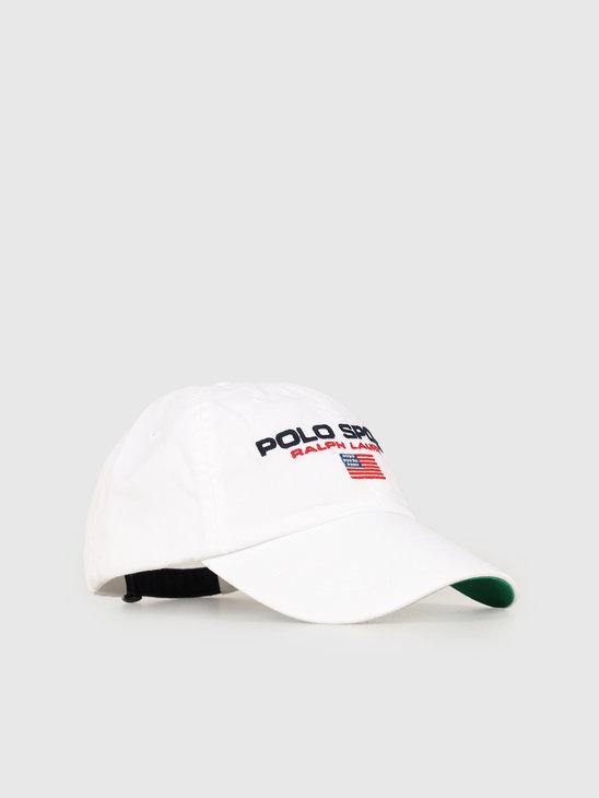935c30d0 Polo Ralph Lauren Classic Sport Cap White 710754471004 ...