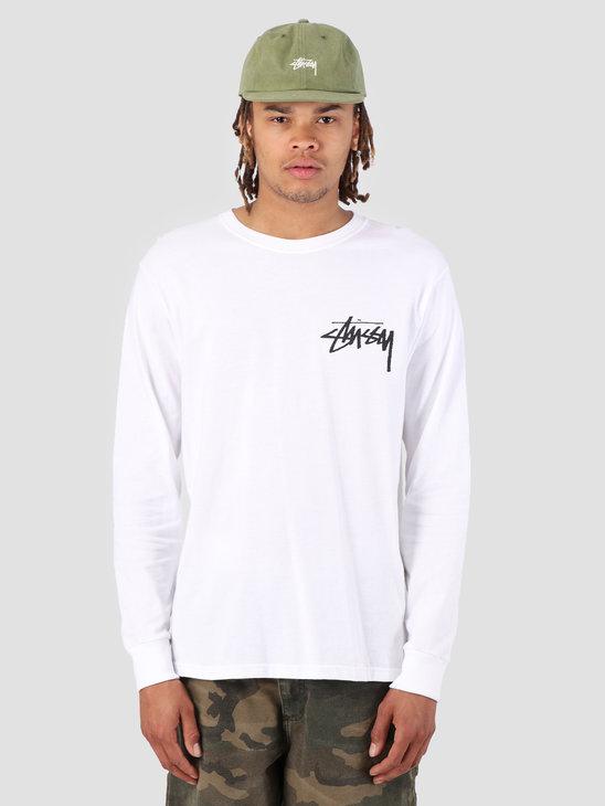 Stussy Stock Longsleeve T-Shirt White 1201