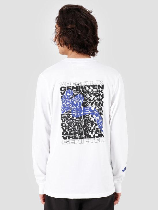 VICE Vreselijk Genieten Longsleeve White Blue
