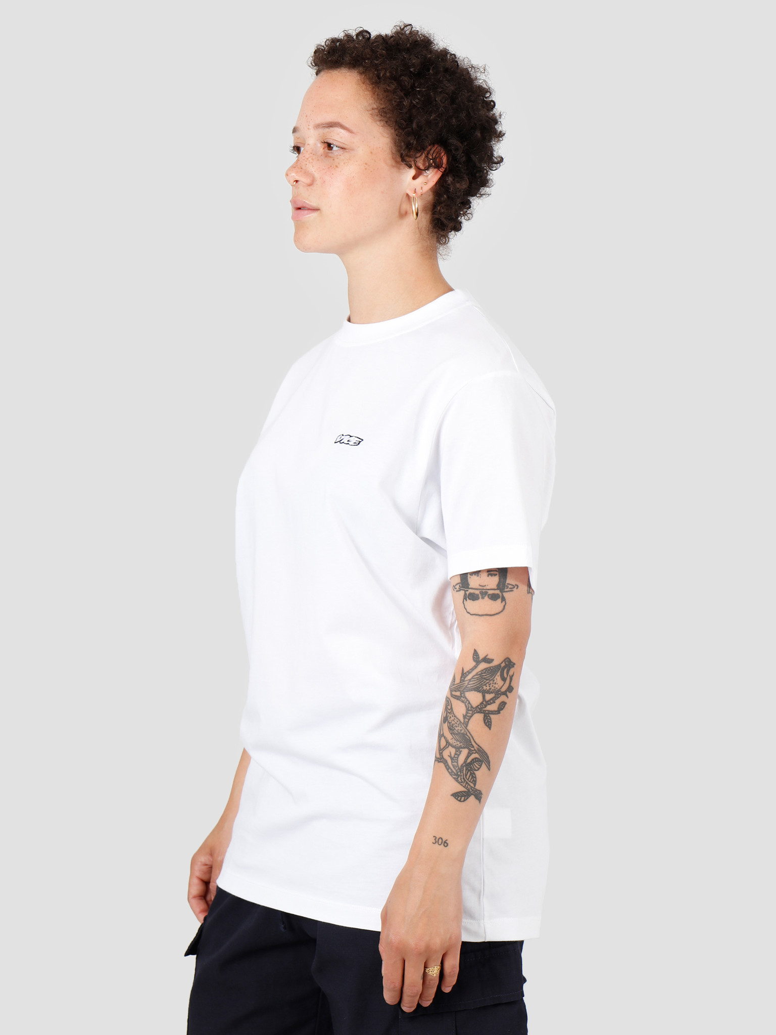 Vice VICE Embroidered Logo T-shirt White
