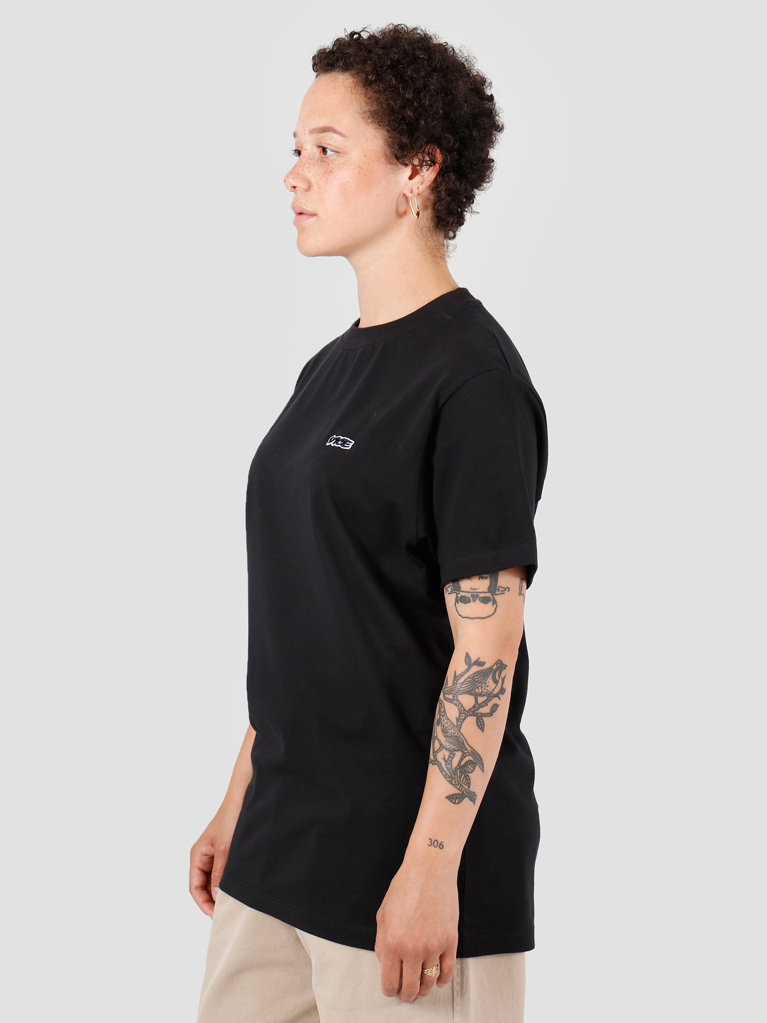 Vice VICE Embroidered Logo T-shirt Black