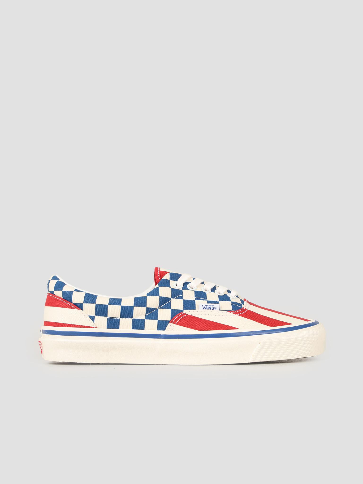 Vans Vans UA Era 95 DX Anaheim Factory OG Red Stripes OG Blue Check VN0A2RR1VYC1
