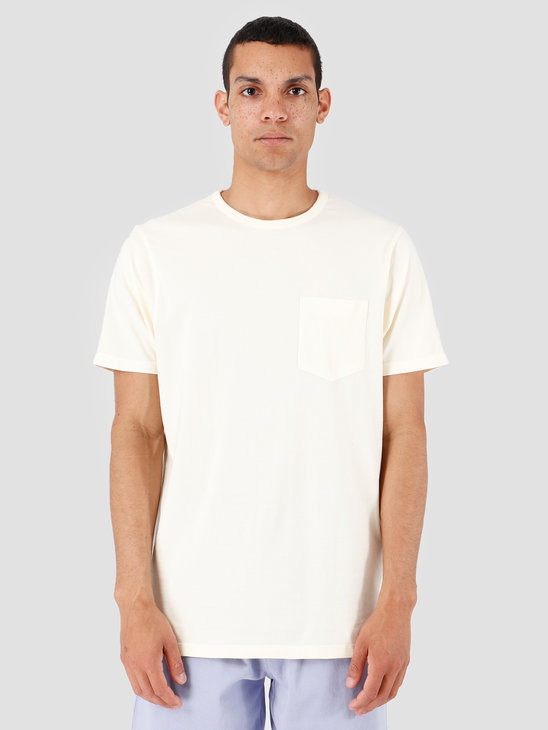Quality Blanks QB06 Pocket T-shirt Off White
