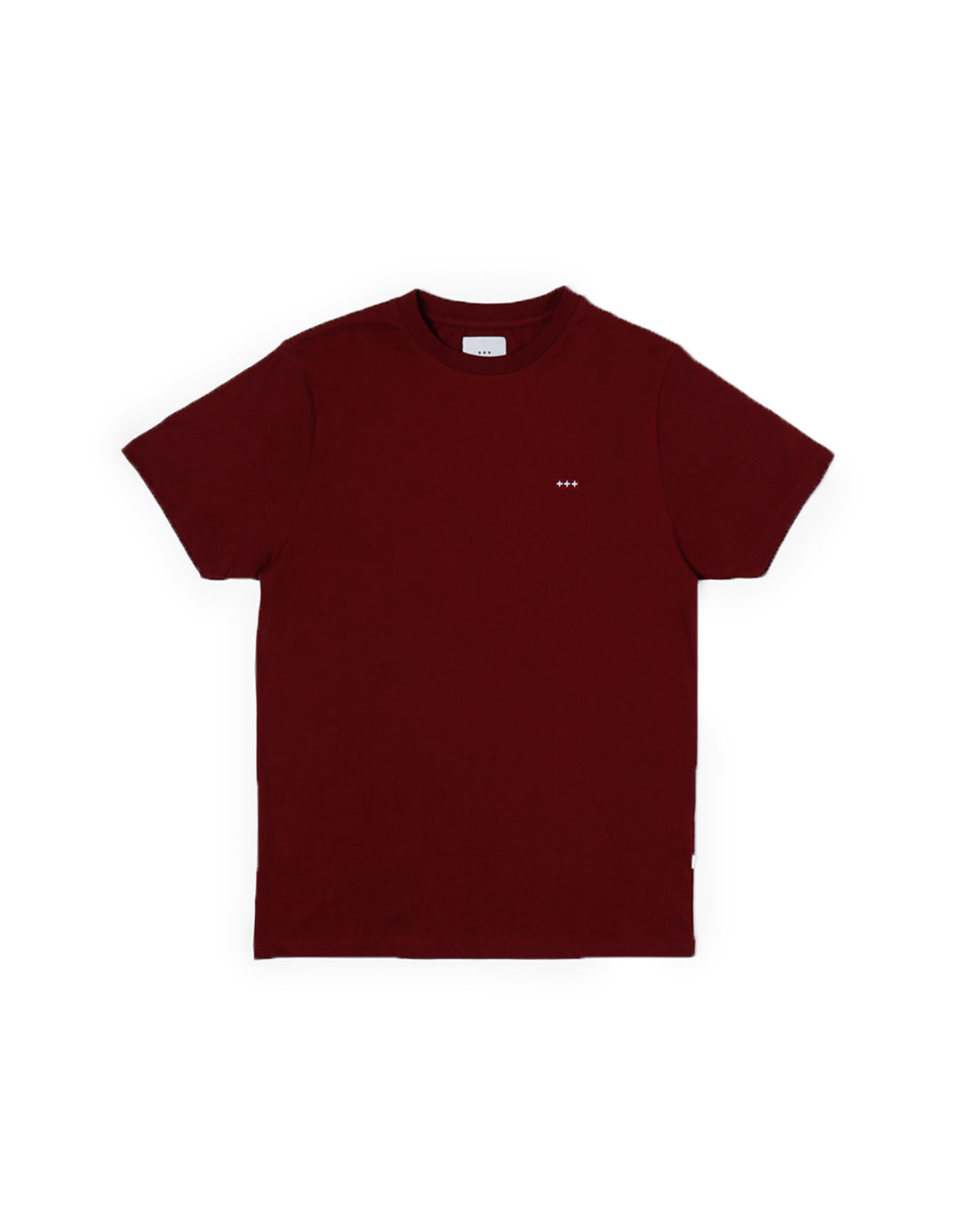 Quality Blanks QB03 Patch Logo T-Shirt Burgundy Red