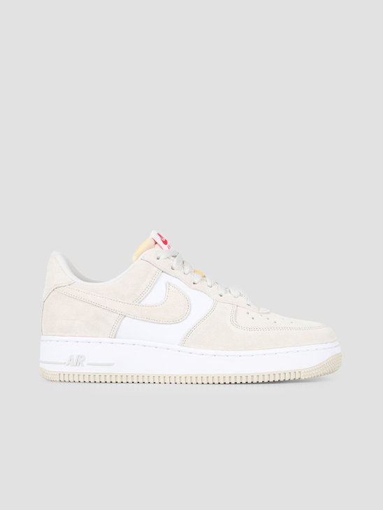 Nike Air Force 1 07 Lv8 Light Bone Light Bone University Red CI2677-001