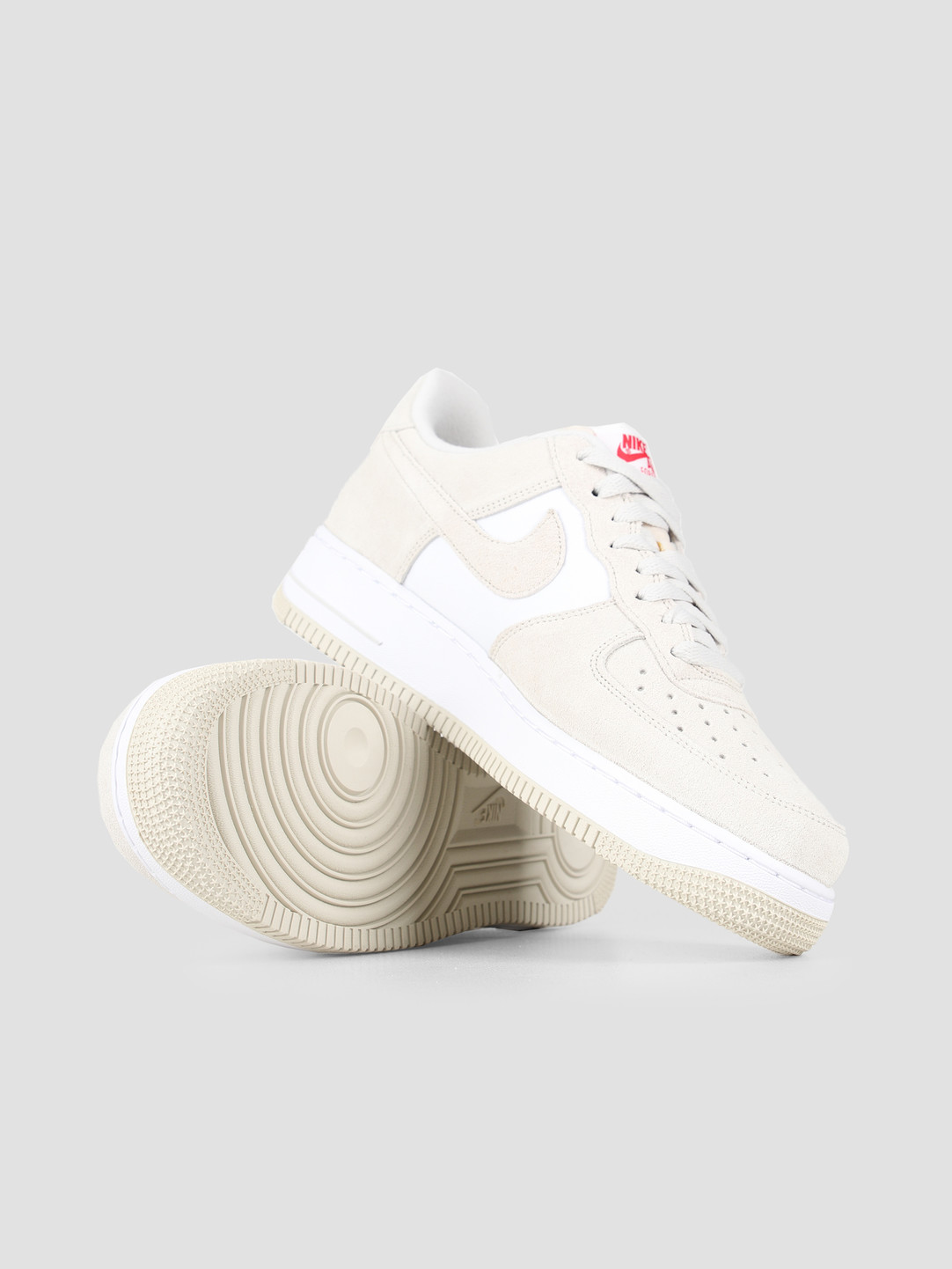 Nike Nike Air Force 1 07 Lv8 Light Bone Light Bone University Red CI2677-001
