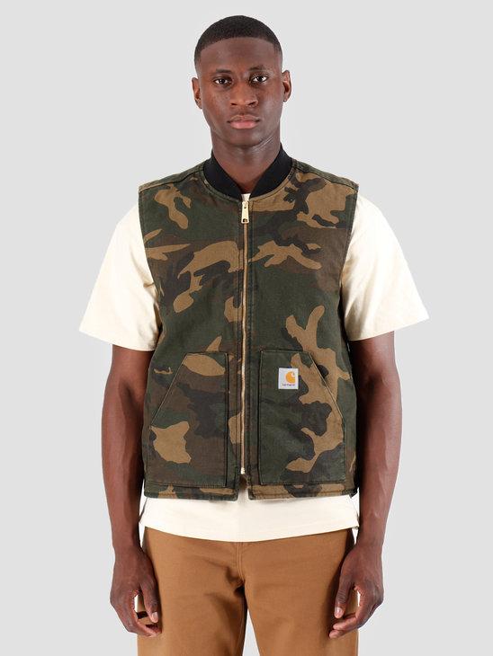 Carhartt WIP Classic Vest Rinsed Camo Laurel I026457