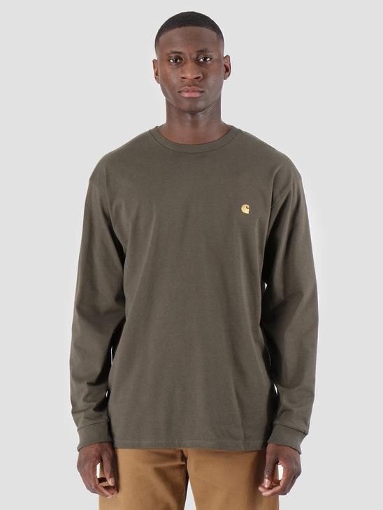 Carhartt WIP Longsleeve Chase Shirt Cypress Gold I026392