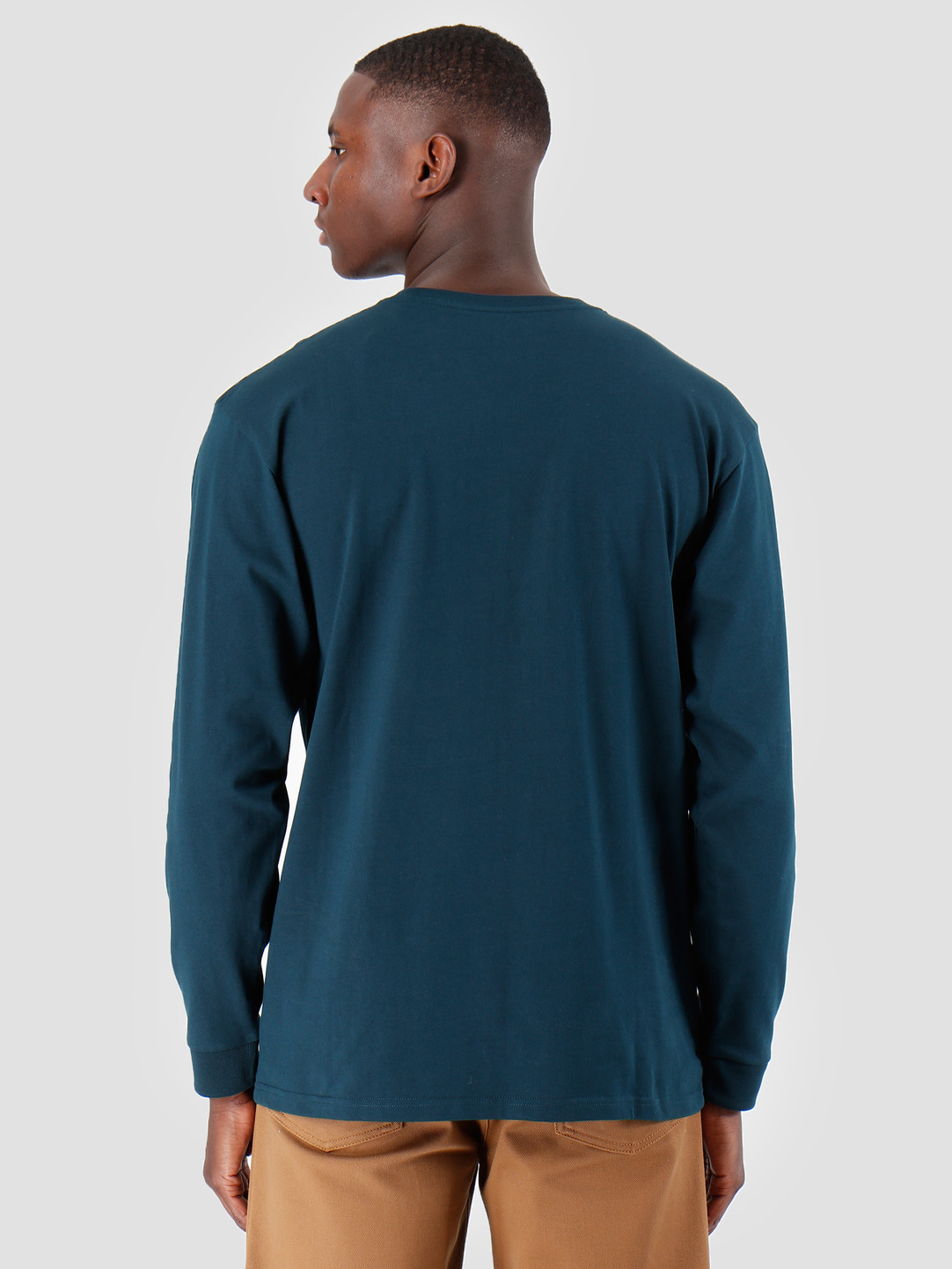 Carhartt WIP Carhartt WIP Longsleeve Chase Shirt Duck Blue Gold I026392