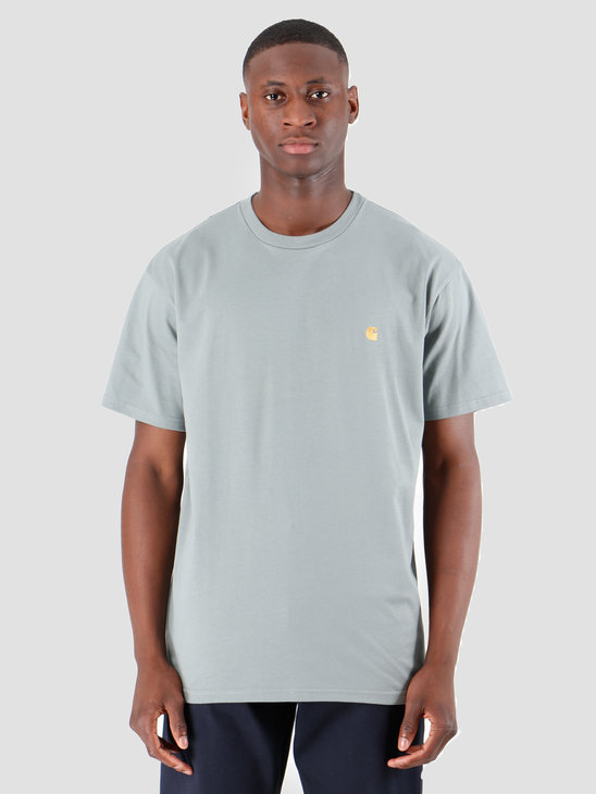 Carhartt WIP Chase T Shirt Cloudy Gold I026391