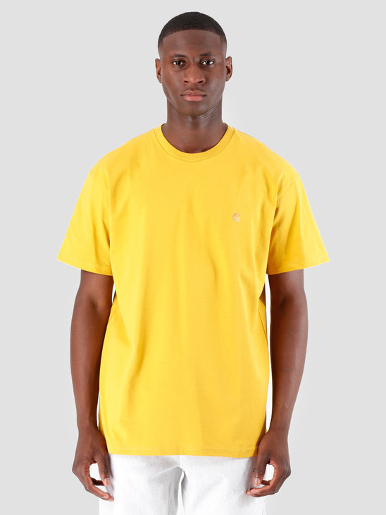 Carhartt WIP Chase T Shirt Colza Gold I026391
