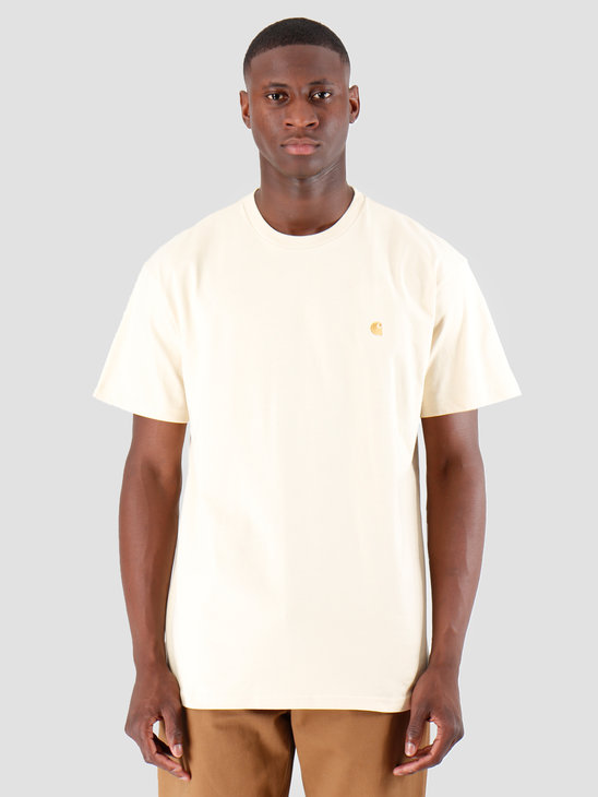 Carhartt WIP Chase T Shirt Flour Gold I026391