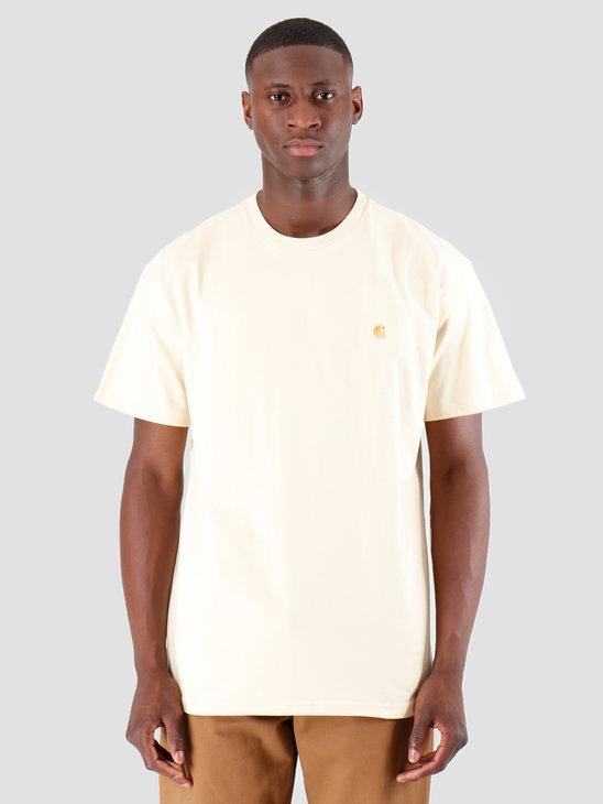 Carhartt WIP Chase T Shirt Flour Gold I026391