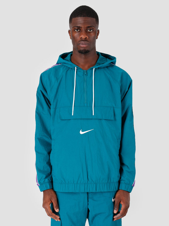 Nike NSW Swoosh Jkt Wvn Geode Teal White Court Purple White CD0419-381