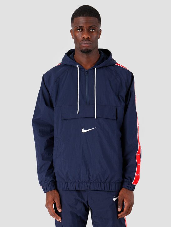Nike NSW Swoosh Jkt Wvn Obsidian White University Red White CD0419-451