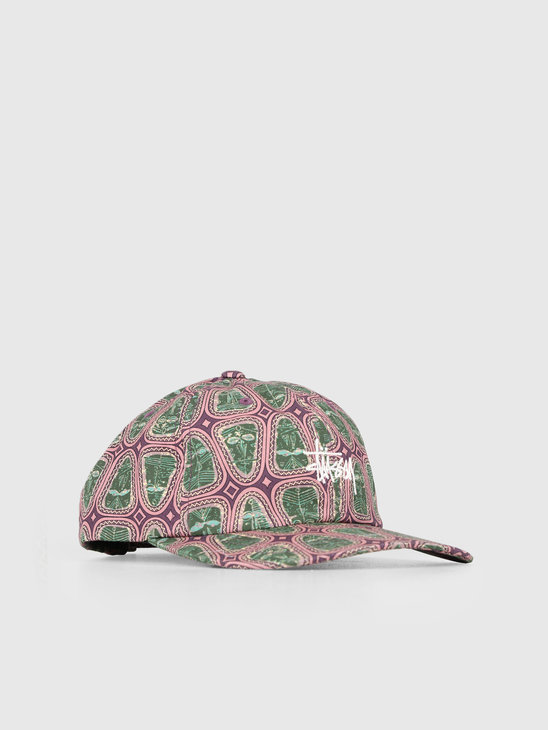 Stussy Mask Pattern Low Pro Cap Pink 0604