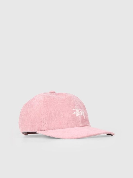 Stussy No Wale Cord Low Pro Cap Pink 0604