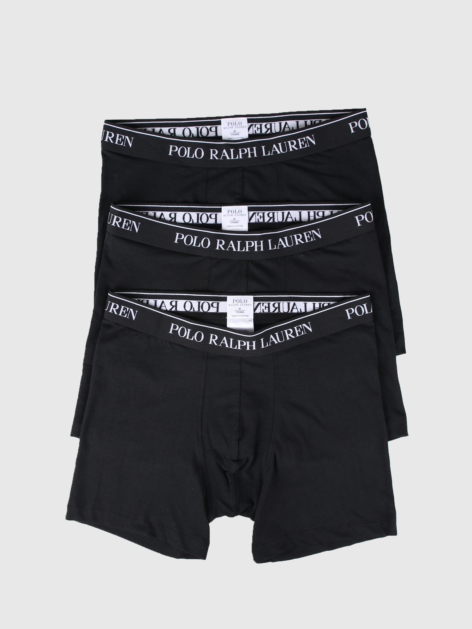 Polo Ralph Lauren Polo Ralph Lauren 3 Pack Boxer Brief Black 714621874003
