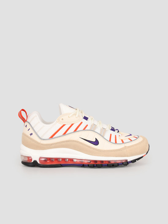 Nike Air Max 98 Sail Court Purple Light Cream Desert Ore 640744-108