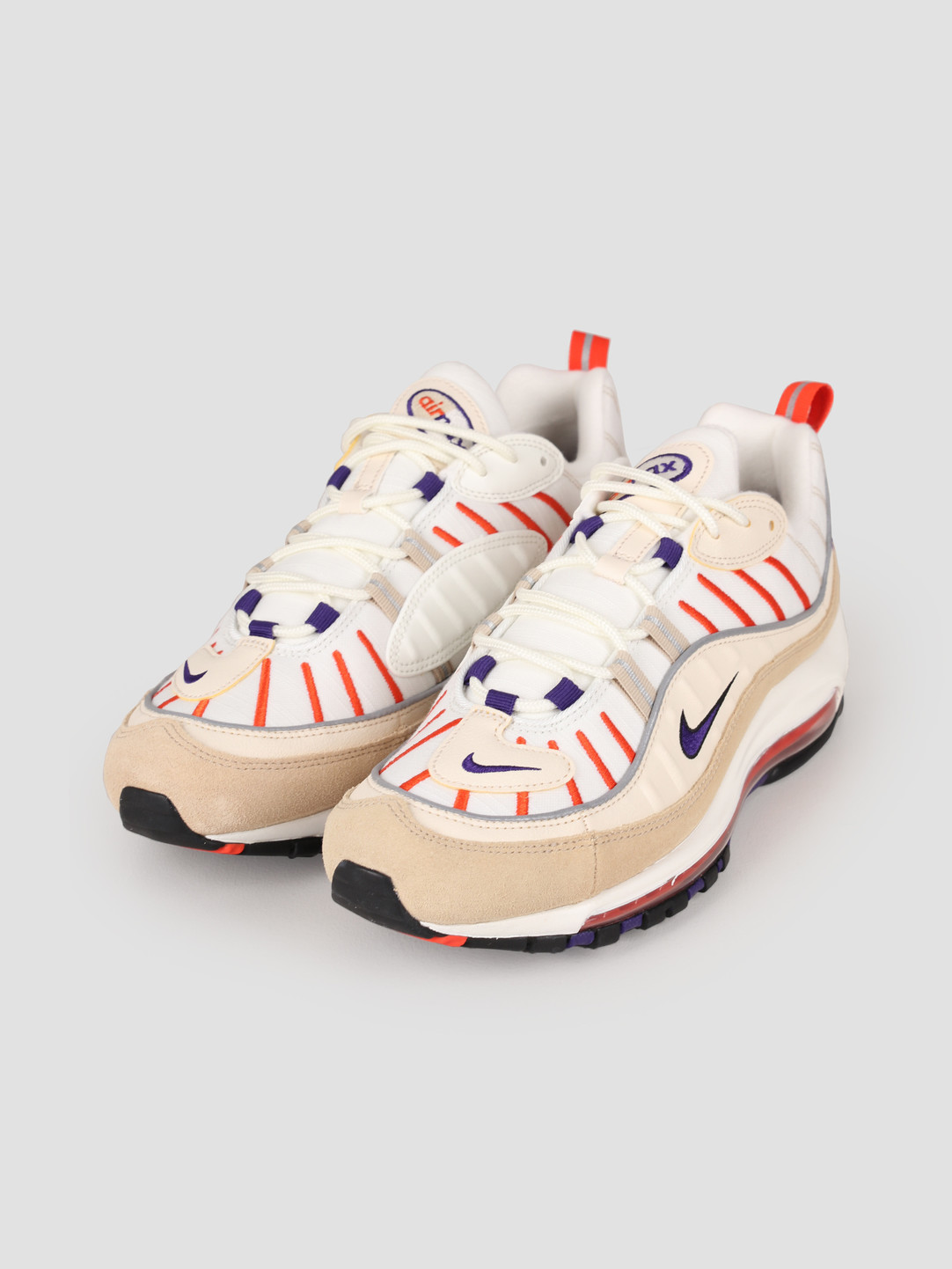 check out d6d24 ab400 Nike Air Max 98 Sail Court Purple Light Cream Desert Ore 640744-108