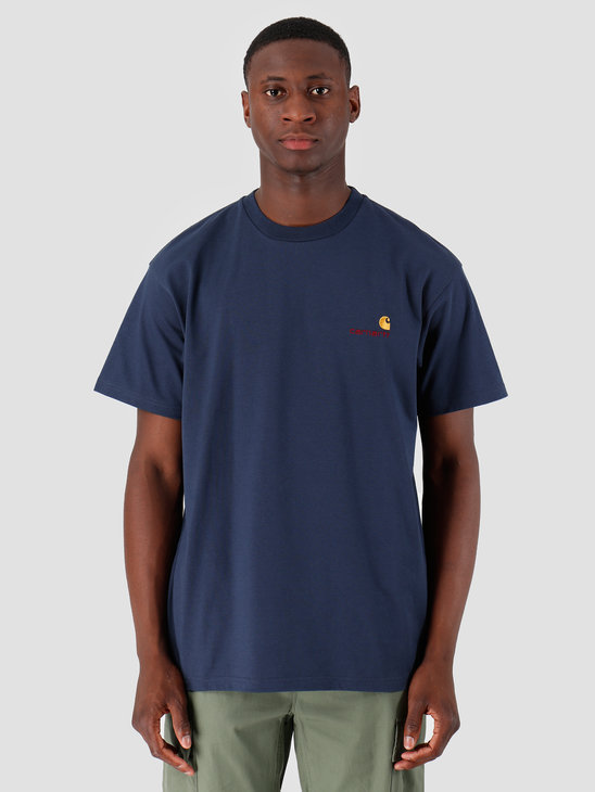 Carhartt WIP American Script T Shirt Blue I025711
