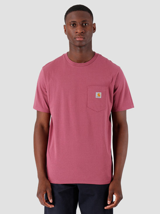 Carhartt WIP Pocket T Shirt Dusty Fuchsia I022091