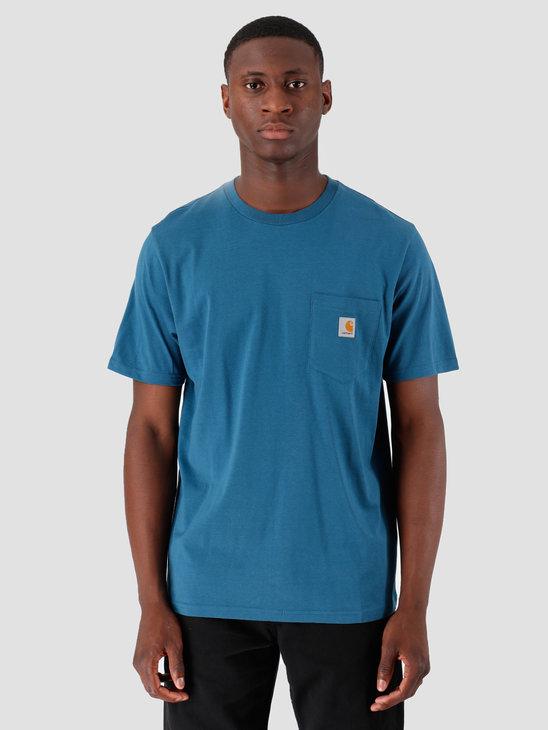 Carhartt WIP Pocket T Shirt Prussian Blue I022091
