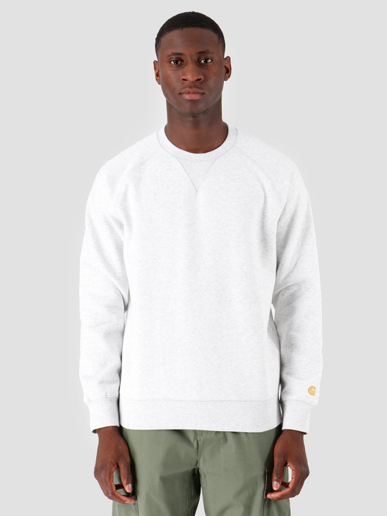 Carhartt WIP Chase Sweat Ash Heather Gold I026383