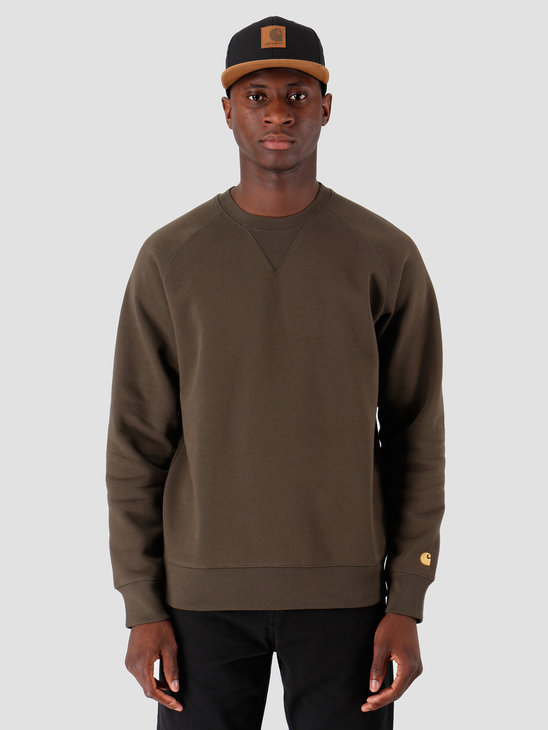 Carhartt WIP Chase Sweat Cypress Gold I026383