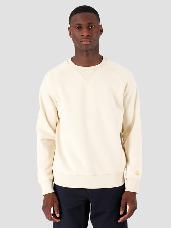 Carhartt WIP Chase Sweat Flour Gold I026383