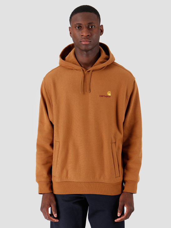 Carhartt WIP Hooded American Script Sweat Hamilton Brown I027041