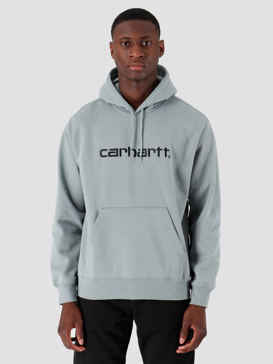 Carhartt WIP Hooded Carhartt Sweat Cloudy Black I027093