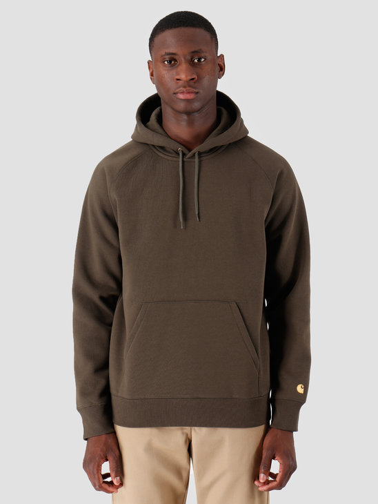 Carhartt WIP Hooded Chase Sweat Cypress Gold I026384