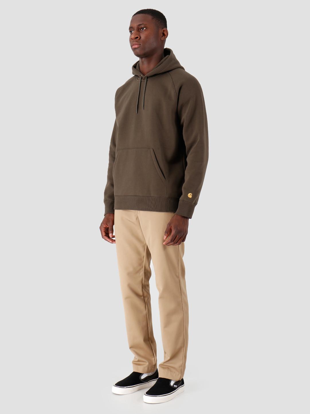 Carhartt WIP Carhartt WIP Hooded Chase Sweat Cypress Gold I026384