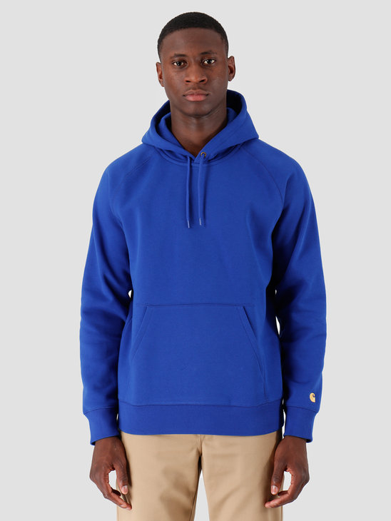 Carhartt WIP Hooded Chase Sweat Thunder Blue Gold I026384