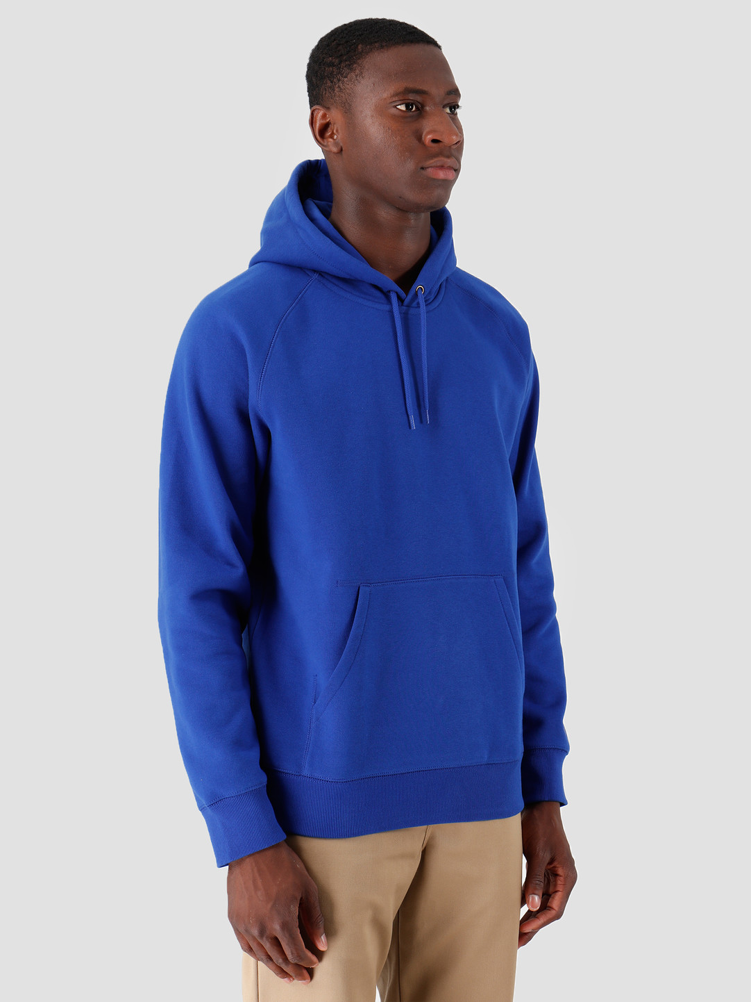 Carhartt WIP Carhartt WIP Hooded Chase Sweat Thunder Blue Gold I026384