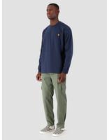 Carhartt WIP Carhartt WIP Longsleeve American Script Shirt Blue I025712