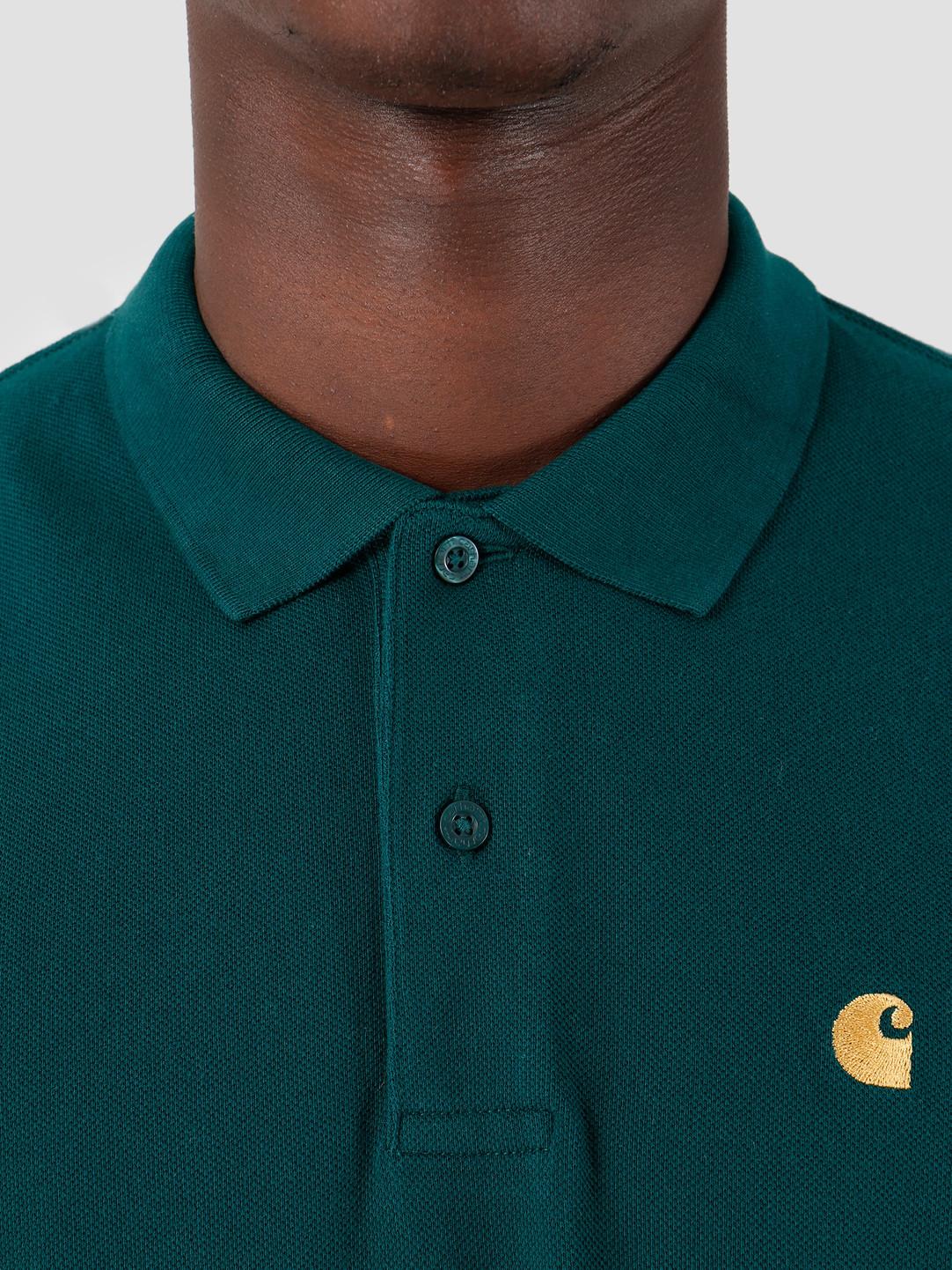 Carhartt WIP Carhartt WIP Longsleeve Chase Pique Polo Dark Fir Gold I027047