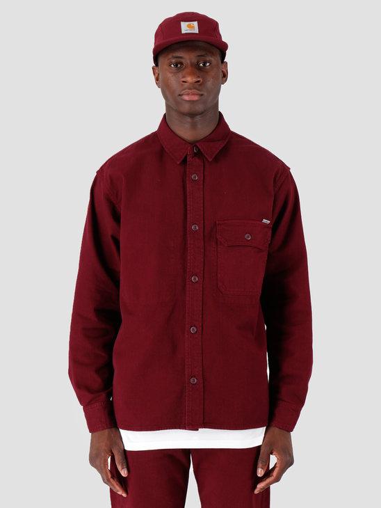 Carhartt WIP Longsleeve Reno Shirt Merlot I026532