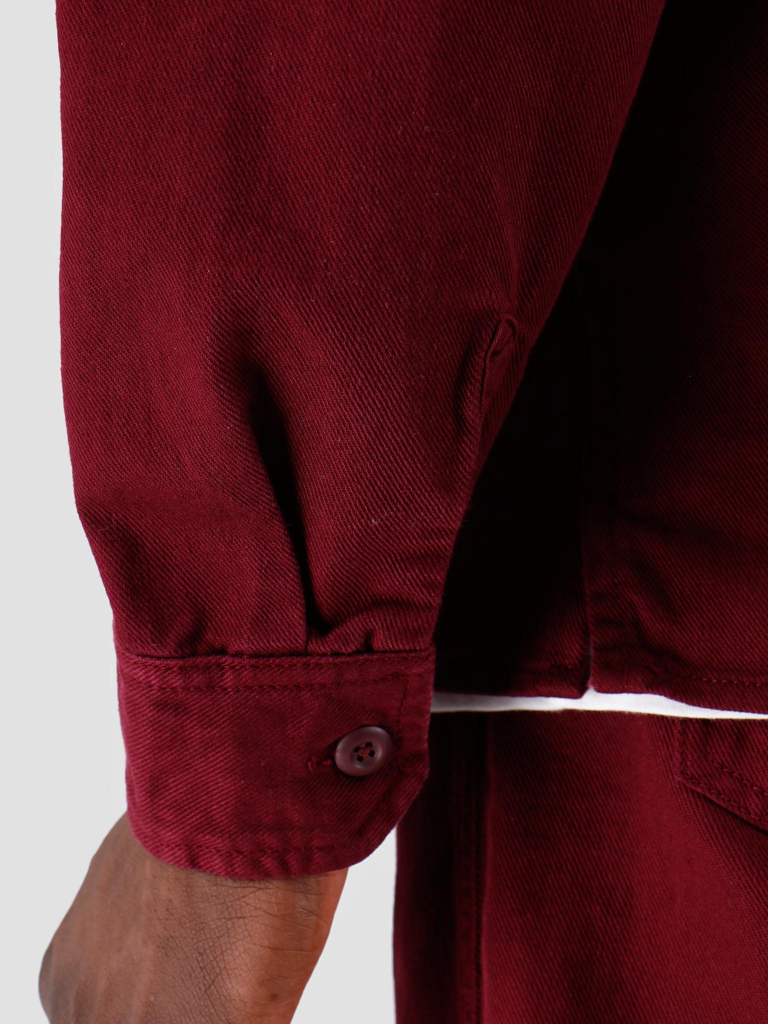 Carhartt WIP Carhartt WIP Longsleeve Reno Shirt Merlot I026532